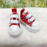 1/6 Bjd Neo B Denim Doll Shoes Color Dots Sneaker RED SHP008RED