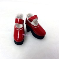 1/6 Bjd Doll Shoes High Heel Boots Red SHP116RED