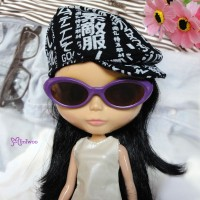 HSM011PUE03 Neo B Doll Mimi Plastic Purple Glasses Brown Lens