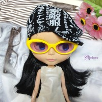 HSM011YEW04 Neo B Doll Mimi Plastic Yellow Glasses Purple Lens