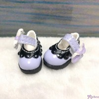 SHP112LPB 16cm Lati Yellow Mary Jane Strap Shoes Purple & Black