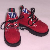 MSD DOD DOC 1/4 bjd Doll Velvet Hiking Shoes Red SHM042RED