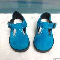 MSD 1/4 bjd Obitsu 60cm Doll Shoes Velvet Maryjane Blue SHM054BLE