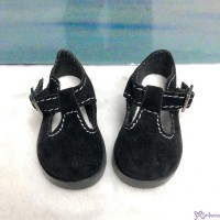 MSD 1/4 bjd Obitsu 60cm Doll Shoes Velvet Maryjane Black SHM054BLK