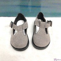MSD 1/4 bjd Obitsu 60cm Doll Shoes Velvet Maryjane Grey SHM054GRY
