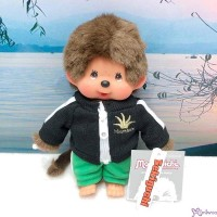 Monchhichi S Size Dressed Black Trainer Pants Boy 239900