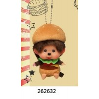 Monchhichi 2020 Burger Big Head SS Boy Keychain ~ PRE-ORDER ~ 262632