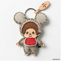 OJAGA DESIGN x Monchhichi Genuine Leather Mascot Mouse Boy 445589 ~ PRE-ORDER ~