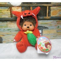 Monchhichi Plush S Size Japan Okinawa Limited - Red Shisa with Goya 760820