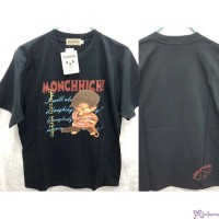 Monchhichi 100% Cotton Fashion Adult Tee Black Cheerful Boy S Size 824S-A