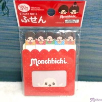 931563 Monchhichi Sticky Note Red 7.5 x 9.5cm   ~ JAPAN Limited ~