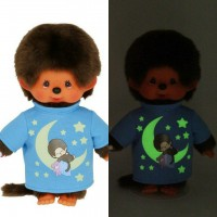 Monchhichi S Size Plush Glow in the Dark Tee Star & Moon Boy GIDB ~ PRE-ORDER ~