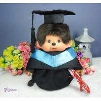 Monchhichi Premium M Size Boy with Graduation Gown Blue RX014-BLE+226344