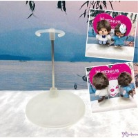 Monchhichi SS Size & Bebichhichi S Size 10cm Plastic Base Doll Stand Holder TAX005