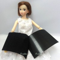 NDA029BLK Doll Dress Making DIY Material Thin Velcro Tape Black