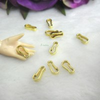 NDA137GLD DIY Craft 8mm Metal D-Ring Hook Buckle Gold (20pcs)