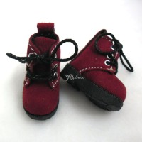 1/6 Bjd Neo B Doll Shoes Velvet Boots Red SHP187RED