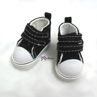 SHU051BLK Yo-SD bjd Doll Shoes 2 Strap Denim Boots Black