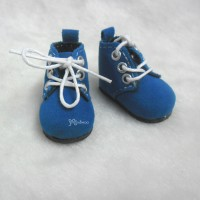 Mimi Collection 4cm Doll Shoes Velvet Blue fit Monchhichi S Size YK01BLE