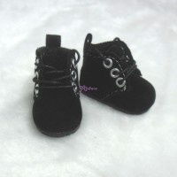 Mimi Collection 4cm Doll Shoes Velvet Black fit Monchhichi S Size  YK01BLK