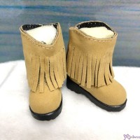 Yo-SD 1/6 BJD Doll Shoes Velvet Tassel Boots Brown SHU045BRN